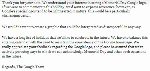 2008 Google Response